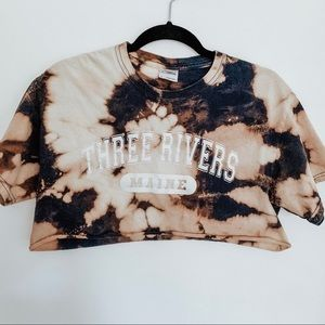 Three Rivers Maine Bleached Crop Top